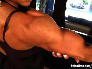 Aziani Eisen Marina Lopez Nackt Bodybuilder