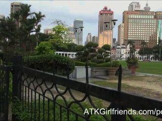 Hoffnung Howell Nimmt Eine Cumshot Auf Ihre Brille In Diesem Malaysisch Urlaub