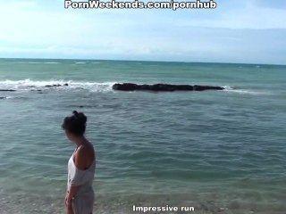 Harten Fick Auf Dem Felsigen Strand