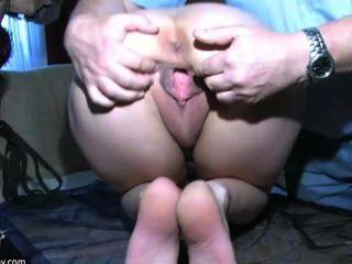 Sexy Junge Mädchen Mit Alten Mann Und Seinen Alten Mollig Oma Spielen