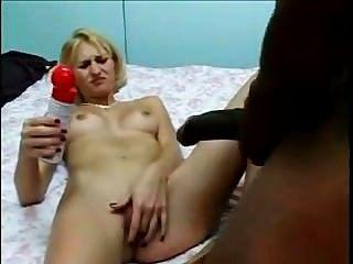 Bored Frau Versucht, 18 Zoll Schwarzen Schwanz