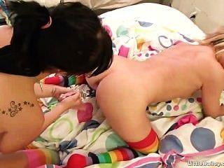 Heißen Lesben Sex Bizaare Sex-spielzeug Mit