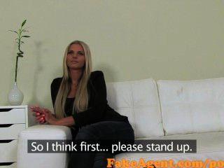 Fakeagent Atemberaubende Blondine Bekommt Sperma über Ihre Großen Titten In Gießen