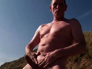 Scottish Schwanz Leistung Am Strand