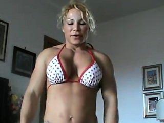 Bodybuilderin Stärke Leistung
