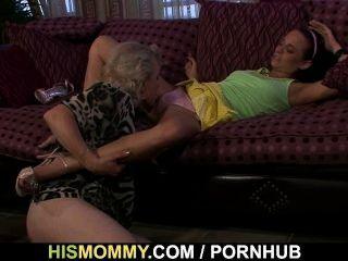 Mann Findet Seine Ma Und Gf In Lesbischen Aktion