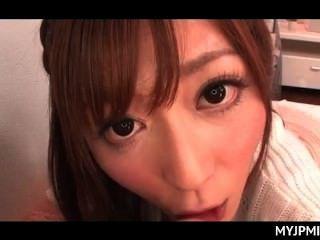 Lüsternen Japanische Mama Mit Ausgehungert Dick Stil In Pov Spielen