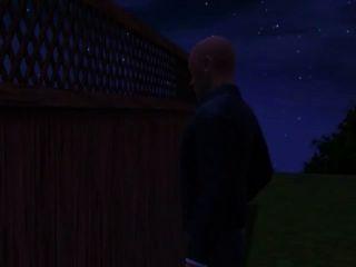 Johns Stiefvater Ist Nach Ihm Suchen, Wenn Er Sieht, über Den Zaun Zu Sehen