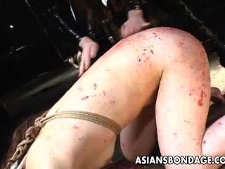 Asiatischen Bondage Lezdom Szene