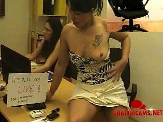 Live-latina Büro Striptease